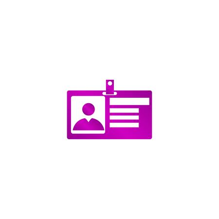 identification: Identification card icon. Flat design style. EPS