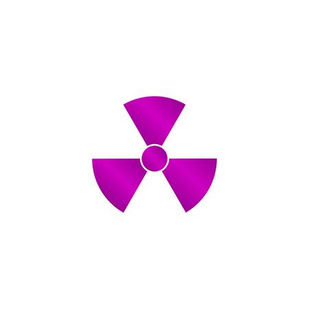 caesium: radiation symbol. Flat design style eps
