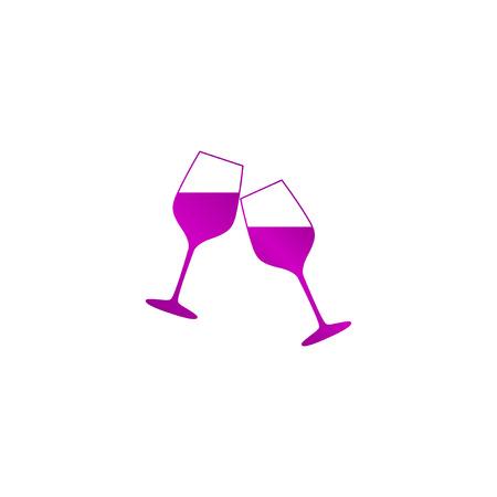 winetasting: Wine glass icon. Flat design style eps Illustration