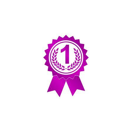 medallion: Vector medallion icon. Flat design style eps