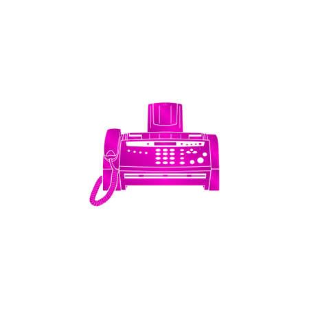 fax machine: Fax machine icon, vector eps  illustration