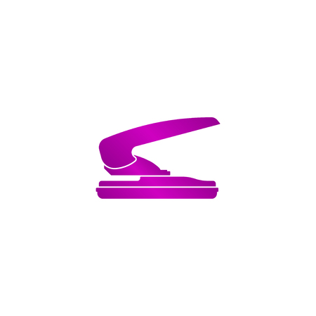 hole puncher: two hole paper puncher icon, vector illustration Illustration