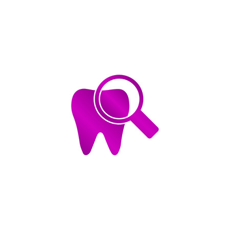 mouth pain: Tooth Icon. Flat design style eps Illustration