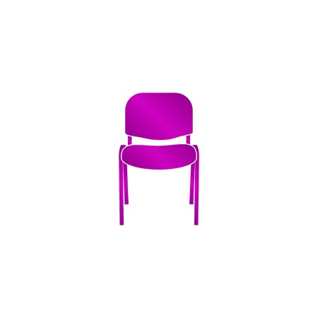 padded stool: Chair Icon. Vector concept illustration for design.