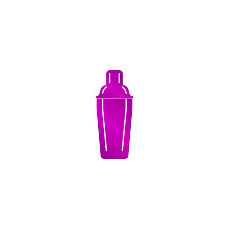 martini shaker: Cocktail shaker icon. Concept illustration for design.