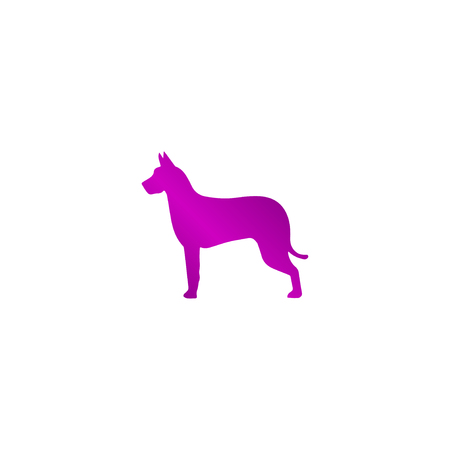 wścieklizna: dog icon. Modern design flat style EPS