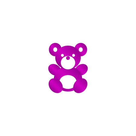 plush toy: Teddy bear plush toy flat icon for apps and websites Illustration