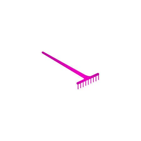 rake: Rake Icon. Vector concept illustration for design.