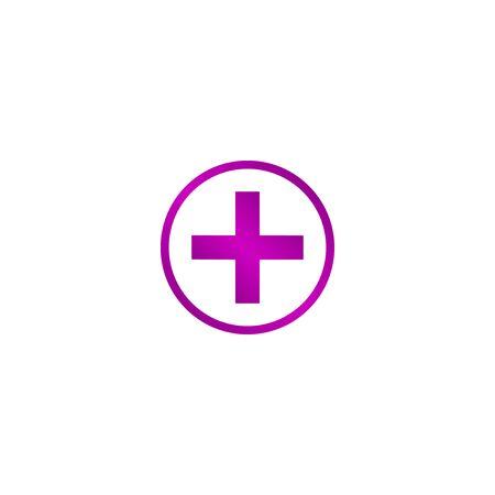 Muestra médica en botón brillante EPS vector Vectores