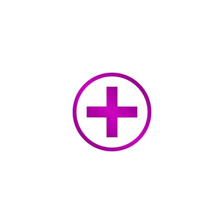 Medical sign in glossy button vector EPS