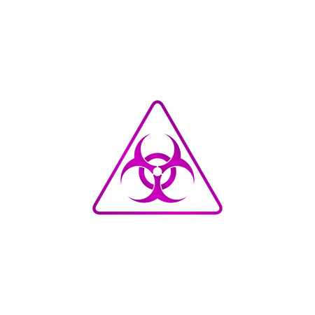 Vector biohazard sign or icon, flat Illustration