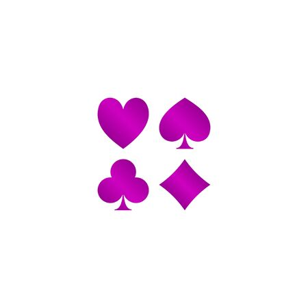 ace of hearts: Vector Playing Card Suit Icon Symbol Set