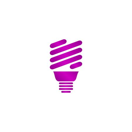 incandescent: Vector energy saving fluorescent light bulb icon.