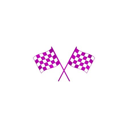 racing flag icon. Flat design style eps 10