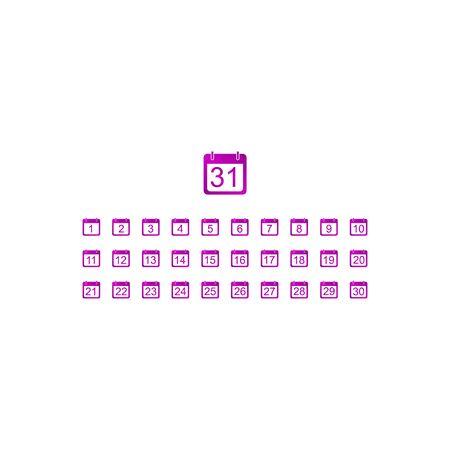 Flat vector calendar icon. Design style EPS Illustration