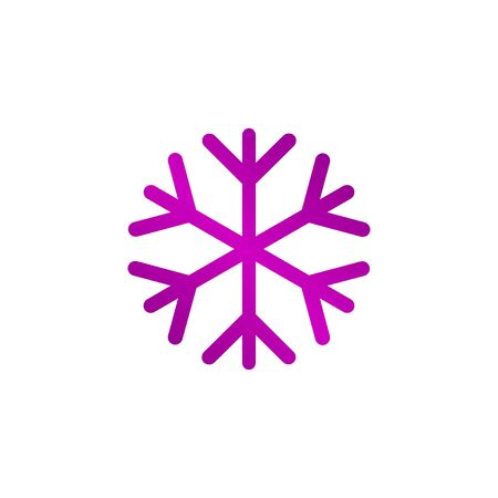 lightweight ornaments: Snowflake flat icon. Vector illustration EPS 10