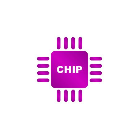 gpu: Vector chip icon, isolated vector eps 10 illustration
