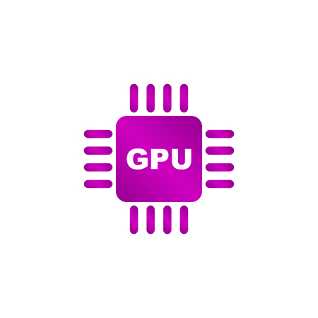 Circuit board icon. Technology scheme square symbol. Vector Illustration