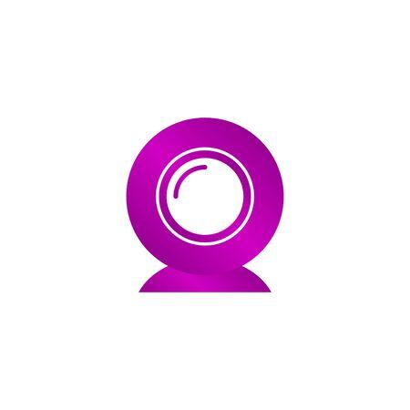 web camera icon. Flat design style eps 10