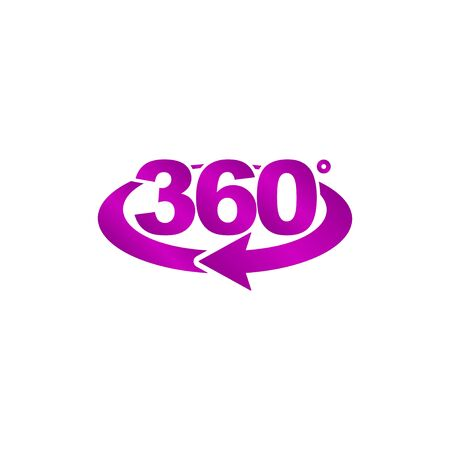 rotation of 360 gradusav, web icon. vector design