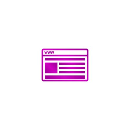 page rank: vector mockup of web design icon. Flat