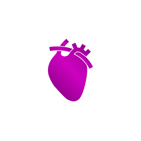 cardiograph: Vector flat heart icon. Flat design style eps 10
