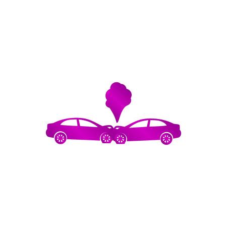 fatality: Car crash concept. Layered vector illustration. Flat Illustration