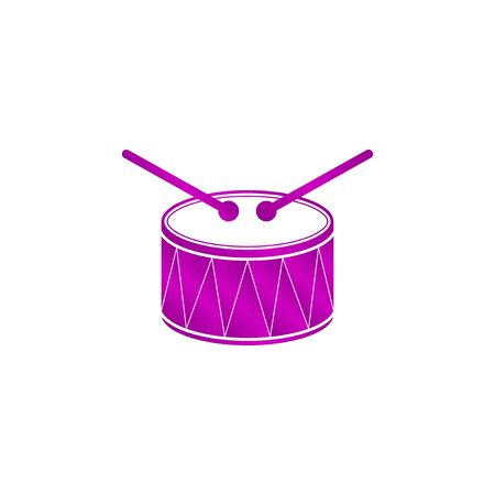 cookware: Drum Icon. Flat design style eps 10