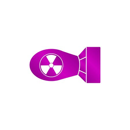 bombe atomique: The atomic bomb icon. Flat design style eps 10