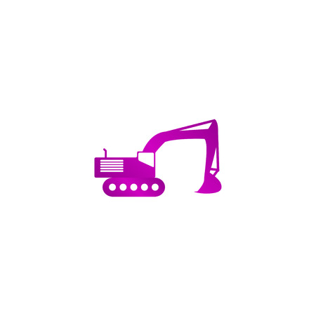 navvy: Excavator icon. Vector concept illustration for design.