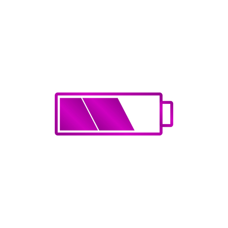 cookware: Battery icon. Flat design style eps 10
