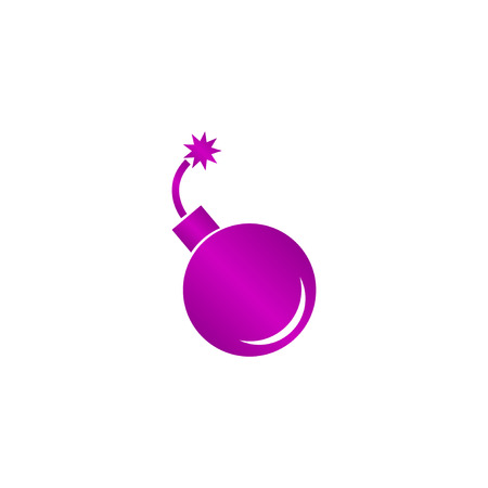 detonate: bomb icon. Flat design style eps 10 Illustration