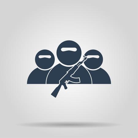 violation: terrorist icon. Vector concept illustration for design. Illustration