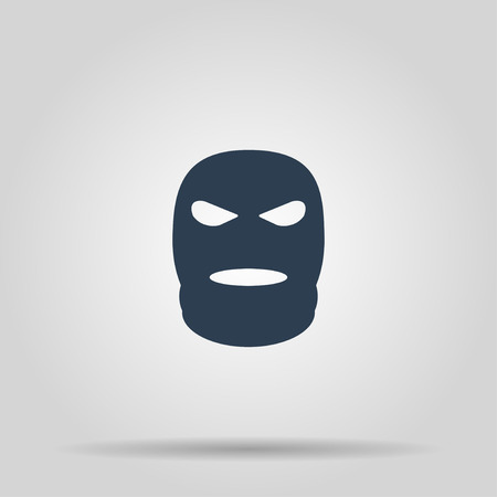 guerrilla: Balaclava terrorist military mask simple icon. Concept illustration for design.