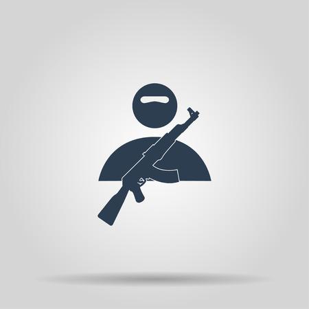 violación: icono terrorista. Vector ilustración del concepto para el diseño. Vectores