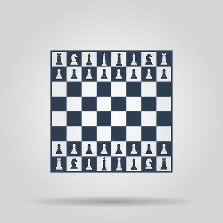 チェス盤。デザインのベクトルの概念図