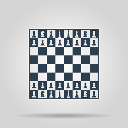 Chess board. Vector concept illustration for design