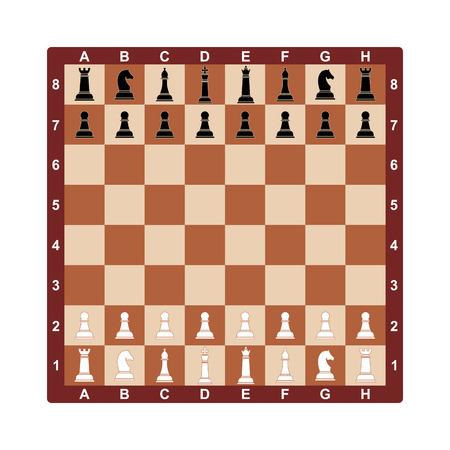 chess board: Chess board. Vector concept illustration for design