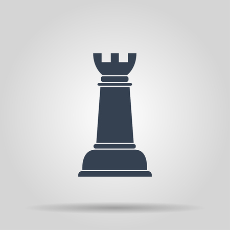 chess rook: Chess Icon. Vector concept illustration for design.