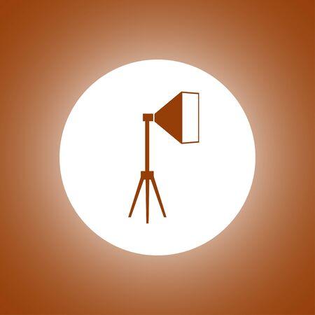 Icon studio light, isolated Exclusive Symbols. Vector