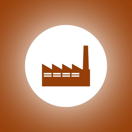 icon of factory. Flat design style Illustration