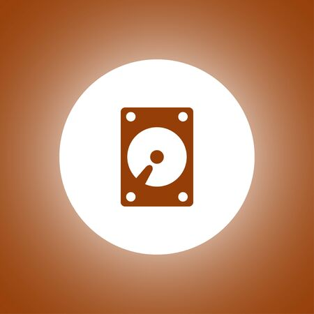hard disk icon. Flat design style