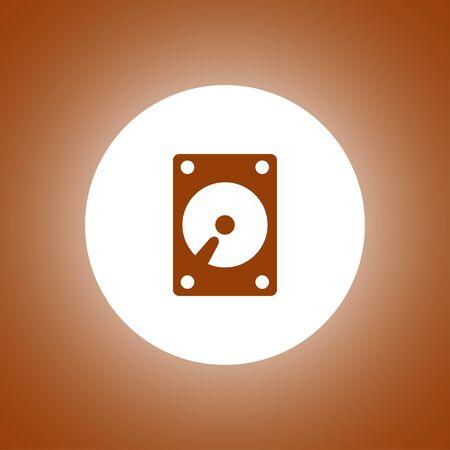 hard disk icon. Flat design style