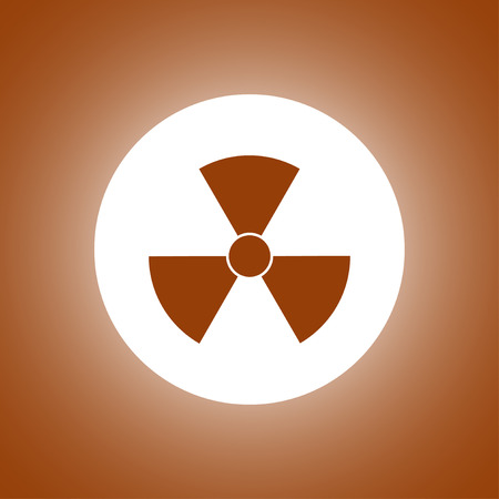 plutonium: radiation symbol. Flat design style