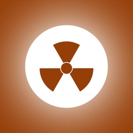 radiation symbol. Flat design style