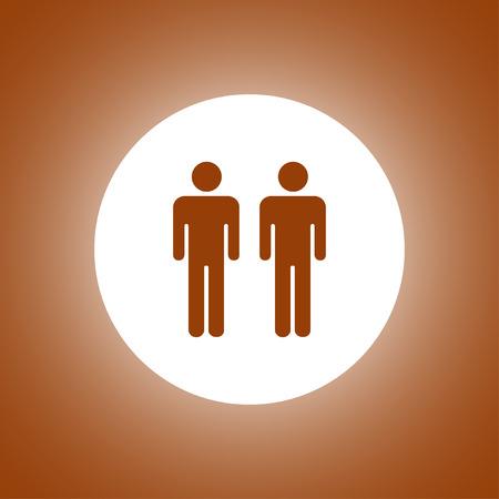 couple icon,. Flat design style Illustration