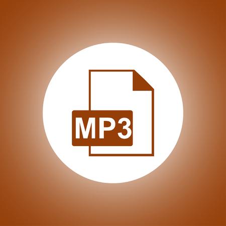 mp3 file icon. Flat design style