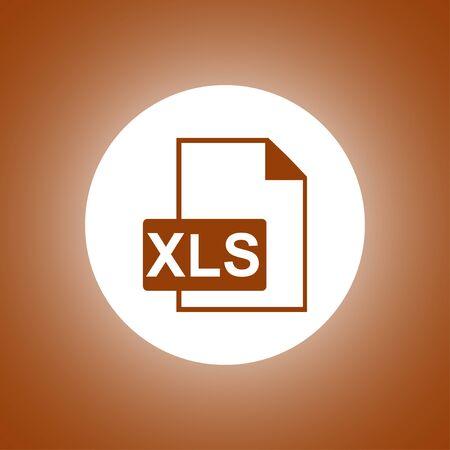 xls: xls icon. Flat design style Illustration