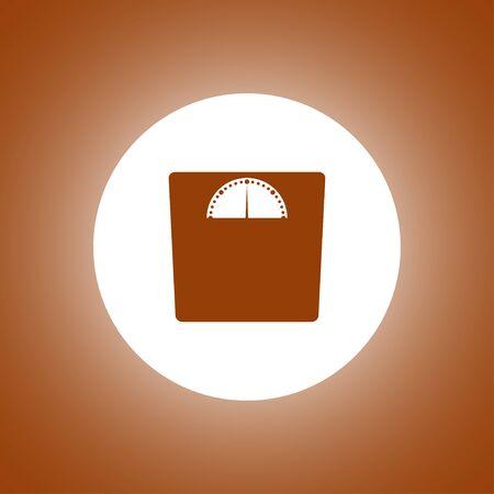 weighting: weighting icon. Vector illustration