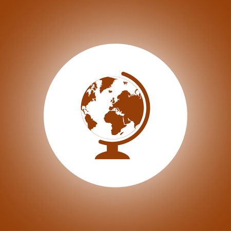 geography: geography school earth globe web icon. vector illustration